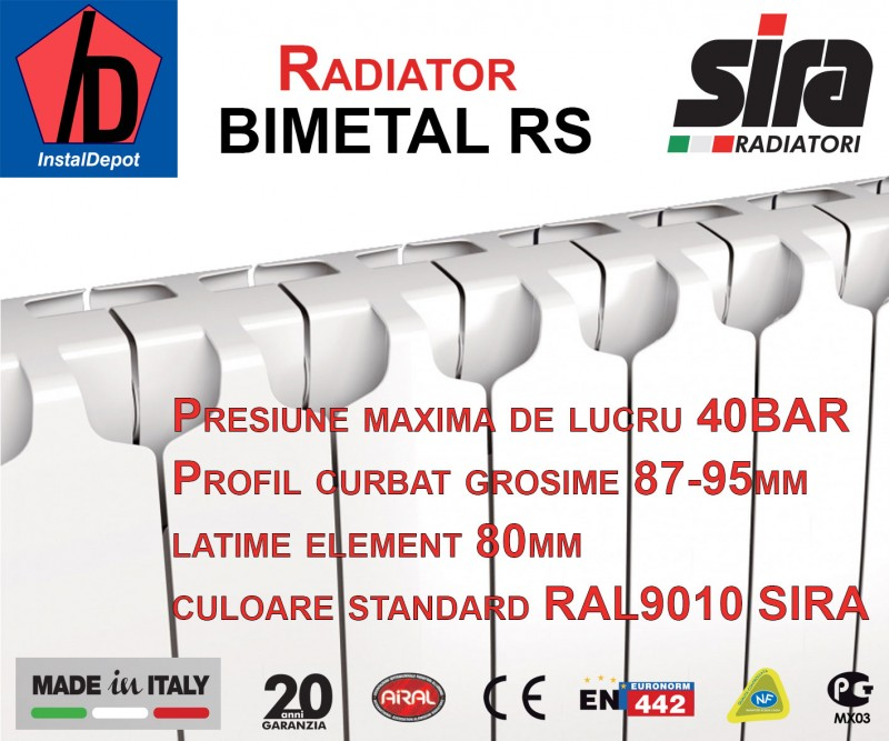 Calorifer Bimetal RS5
