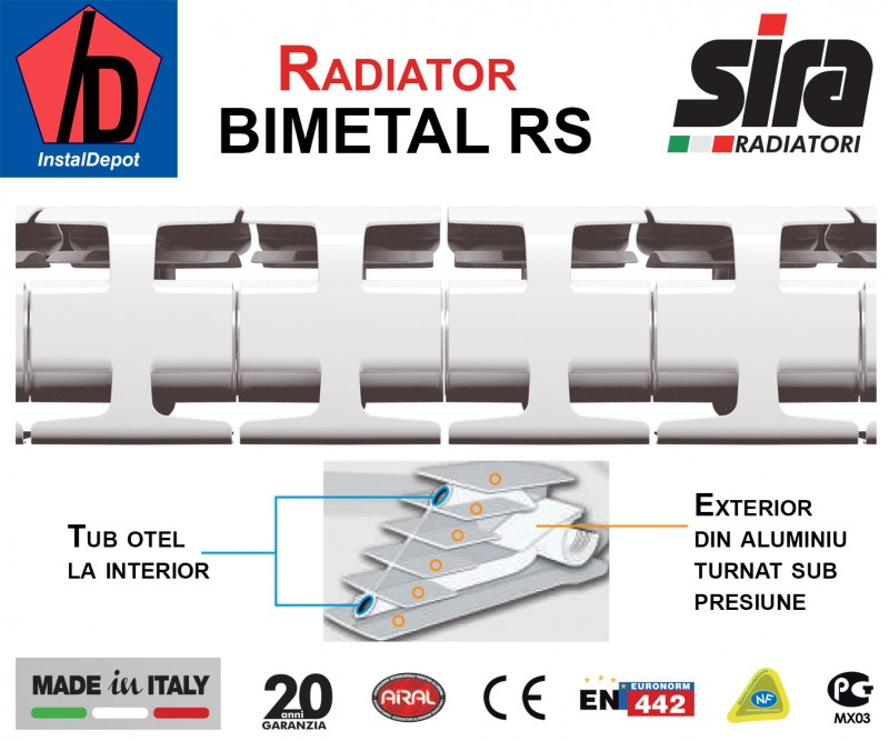 Calorifer Bimetal RS6
