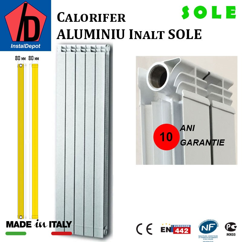Element calorifer din aluminiu Sole 2000