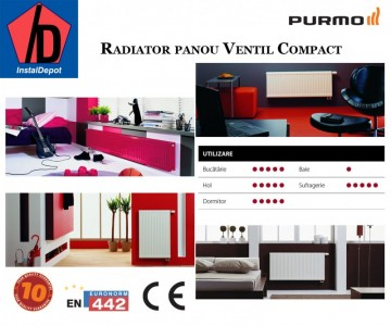 Calorifer otel Purmo Ventil CV 22/600/1000