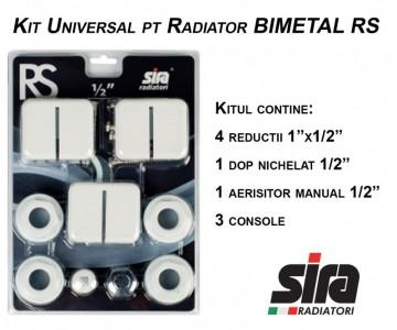 poza Kit universal pentru Calorifer Bimetal RS 1/2
