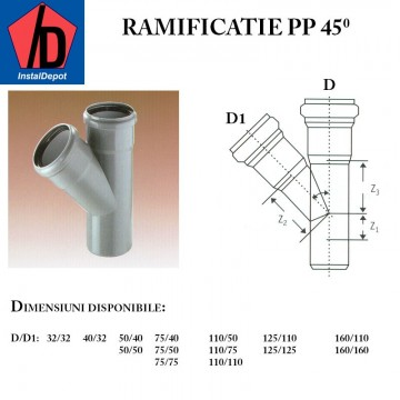 poza Ramificatie PP125/125/45gr