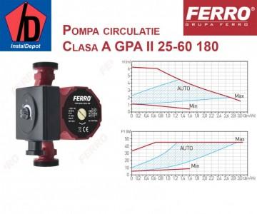 poza Pompa circulatie clasa A Ferro GPA II 25-60 180