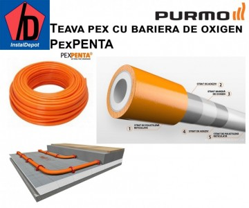 poza Teava cu bariera de oxigen Purmo PexPenta 16x2 colac 600 ml